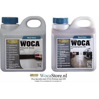 Woca Natural Soap and Maintenance Oil GREY -ACTION-