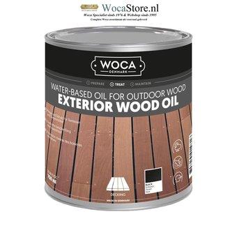 Woca Exterior Oil BLACK for Terrace, Furniture, Log Cabin etc.