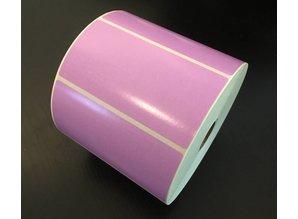 Zebra DT etiket violet 102x51mm, rol à 1.370 et.
