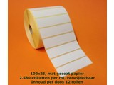 Zebra etiket 800274-105 / 102x25 Verwijderbaar