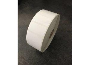 Kunststof Polyester etiket 38x19mm, rol 3.300 et.