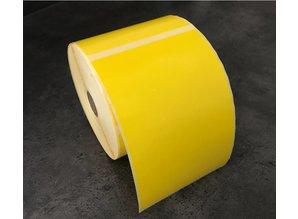 DT etiket 102x152mm geel, rol à 475 etiketten