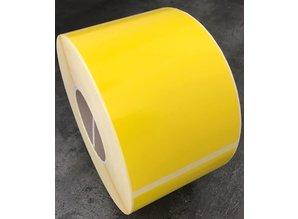 DT etiket 102x152mm GEEL, rol à 950 etiketten