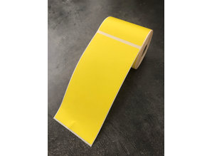 Verzendetiketten 100x210 geel 210 per rol