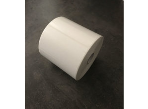 Kunststof etiketten 102x51mm rol à 1.370 etiketten