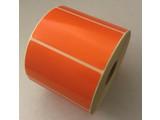 DT etiket oranje 70x40mm, 1000 per rol