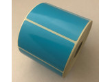 DT etiket blauw 70x40mm, 1000 per rol