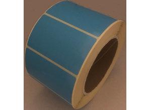 DT etiket blauw 70x40mm, rol à 1000, K76