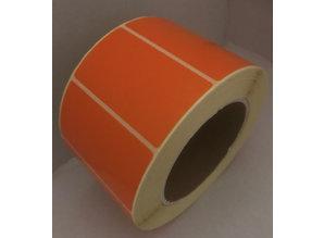 DT etiket oranje 70x40mm, rol à 1000, K76