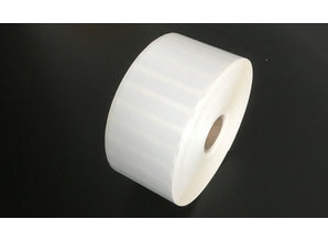 Kunststof etiket 50x8mm, rol à 6.500 etiketten