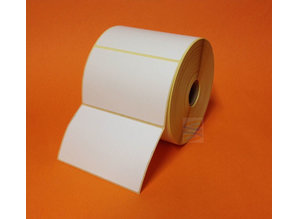 Direct thermal kunststof etiket 102x76, rol à 750