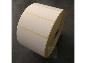 Kunststof etiket 70x30mm, rol à 2200 etiketten