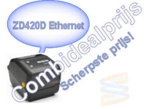 Zebra ZD420D DT printer (USB+ETHERNET) combi deal