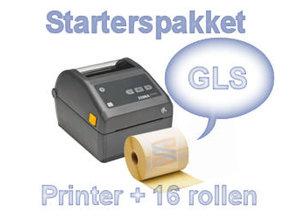 GLS  starterspakket ZD420D ethernet + 16 rollen