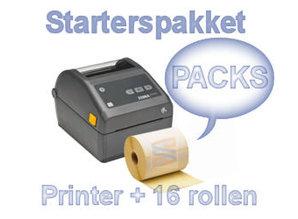 PACKS starterspakket ZD420D (USB) + 16 rollen