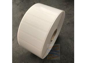 Kunststof etiket 51x13mm, rol à 4.650 etiketten