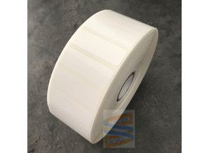 Kunststof etiket 38x13mm, rol à 4650 etiketten