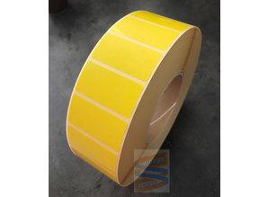 Papier etiket geel 51x25mm, rol à 5.180 etiketten