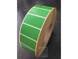 Papier etiket groen 51x25mm, rol à 5.180 etiketten