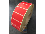 Papier etiket rood 51x25mm, rol à 5.180 etiketten