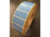 Papier etiket blauw 51x25mm, rol à 5.180 etiketten