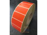 Papier etiket oranje 51x25mm, rol à 5.180 etiketten