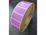 Papier etiket violet 51x25mm, rol à 5.180 etiketten