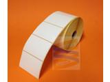 Dt etiket eco 76x51, geen perforatie, rol à 1.370