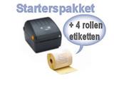 Zebra Starterspakket ZD220D (USB)  DHL + 4 rollen etiketten
