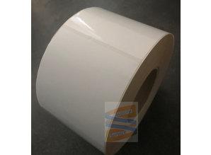 Kunststof etiket 102x102mm, rol à 1432 etiketten
