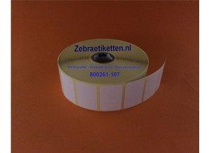 Zebra 800261-107 DT etiketten 38x25mm, rol à 2.580 stk.