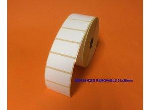 Zebra 880199-025D Removable 51x25mm 2.580 p.rol