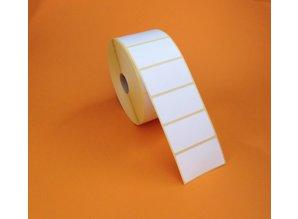Direct thermal etiket 57x32mm,2100 p.rol/ds à 12 rl.
