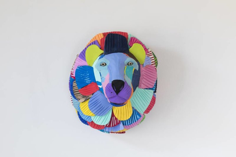Ocean Sole  Art mural Lion