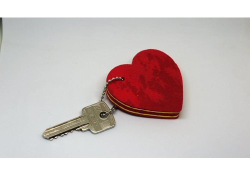 Ocean Sole  Key ring Heart