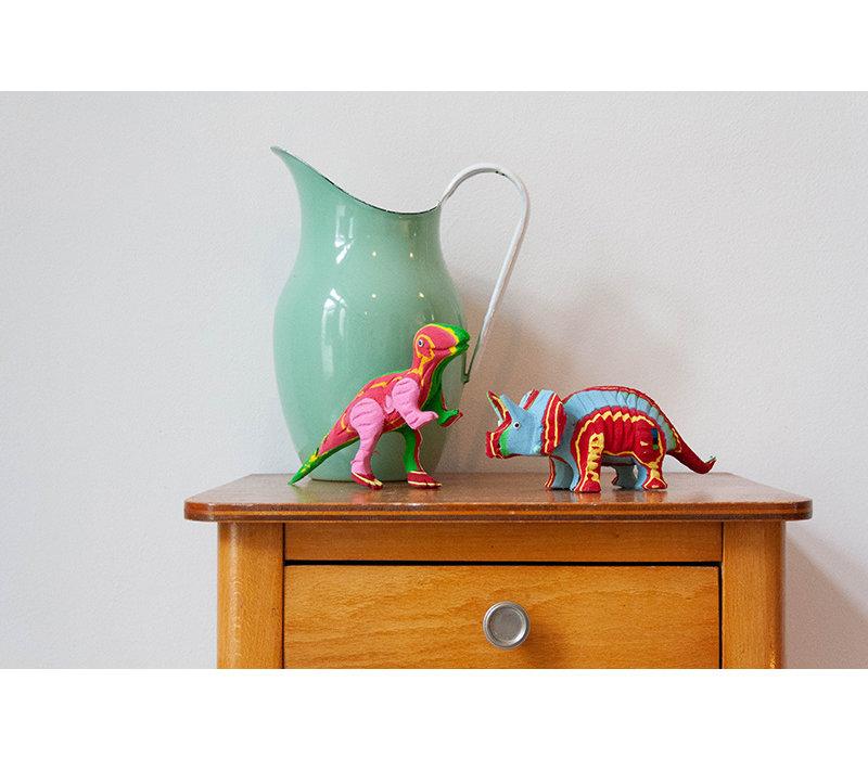 T-Rex & Triceratops gesetzt