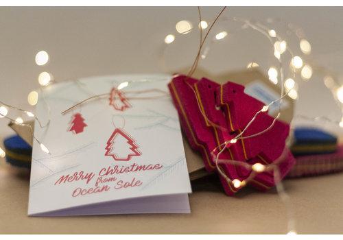 Ocean Sole  Ocean Sole Kersthanger met kerstkaart - set van 5