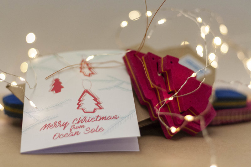 Ocean Sole  Ocean Sole Christmas hanger with Christmas card - set of 5