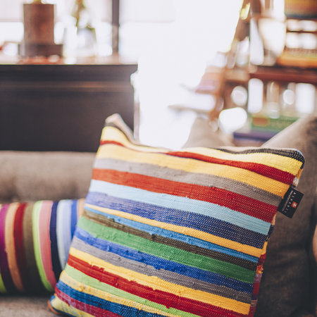 Decorative pillows made from recycled cotton
