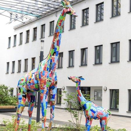 Giraffe moeder & dochter