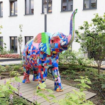 Bébé éléphant grandeur nature 1,2 mètre