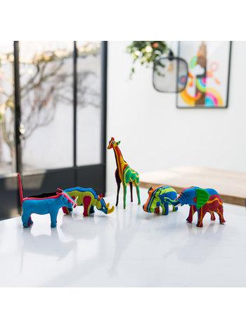 Ocean Sole  Ensemble BIG FIVE (éléphant, girafe, rhinocéros, hippopotame et phacochère)
