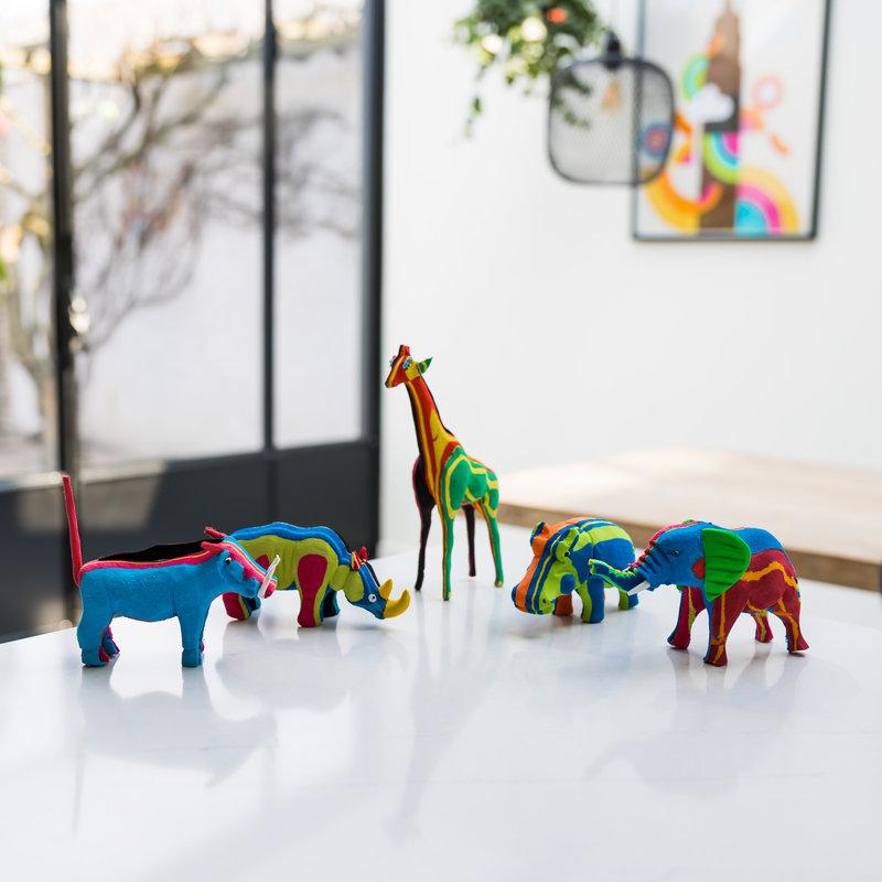 Ocean Sole  BIG FIVE Set (olifant, giraffe, neushoorn, nijlpaard en wrattenzwijn)