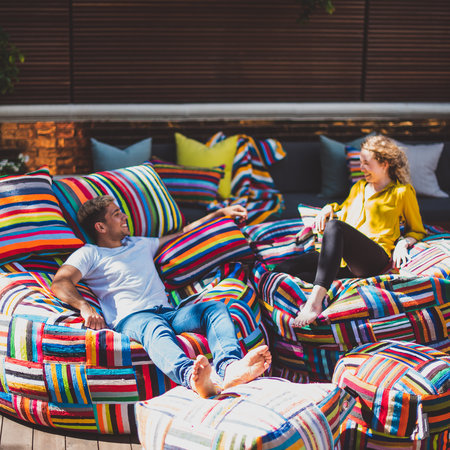 Colorful beanbags with a special story