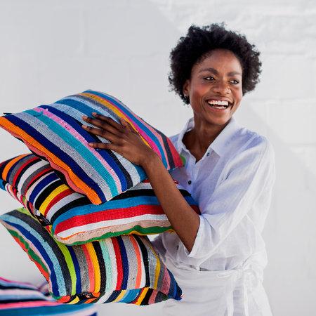 Coussins décoratifs en coton recyclé