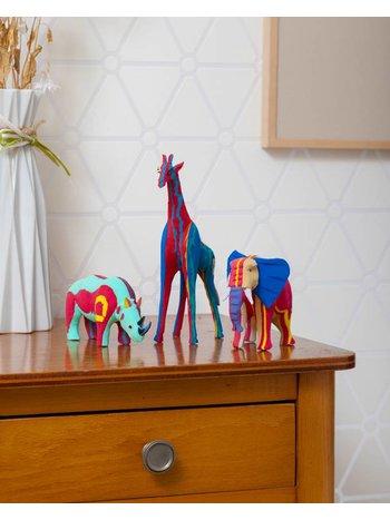 Ocean Sole  Ensemble Safari (éléphant, girafe et rhinocéros)