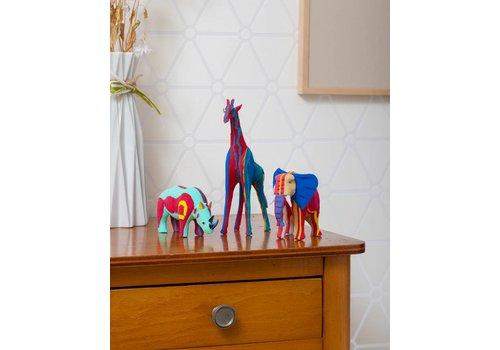 Safari-Set (Elefant, Giraffe und Nashorn)