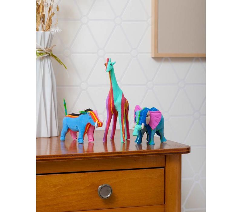 Ensemble Safari (Éléphant, Girafe et Phacochère)