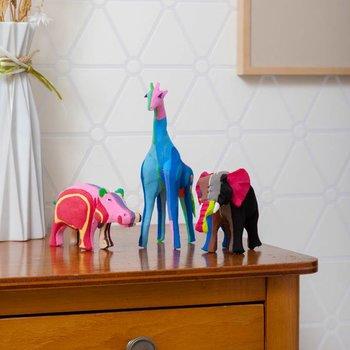 Ocean Sole  Ensemble safari (éléphant, girafe et hippopotame)