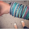 Tahoua African colored bracelets from recycled slippers